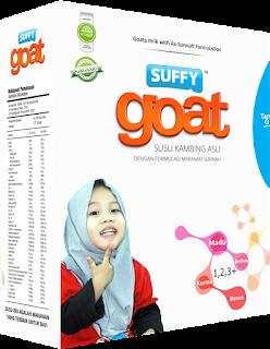 Suffy goat selepas susu badan