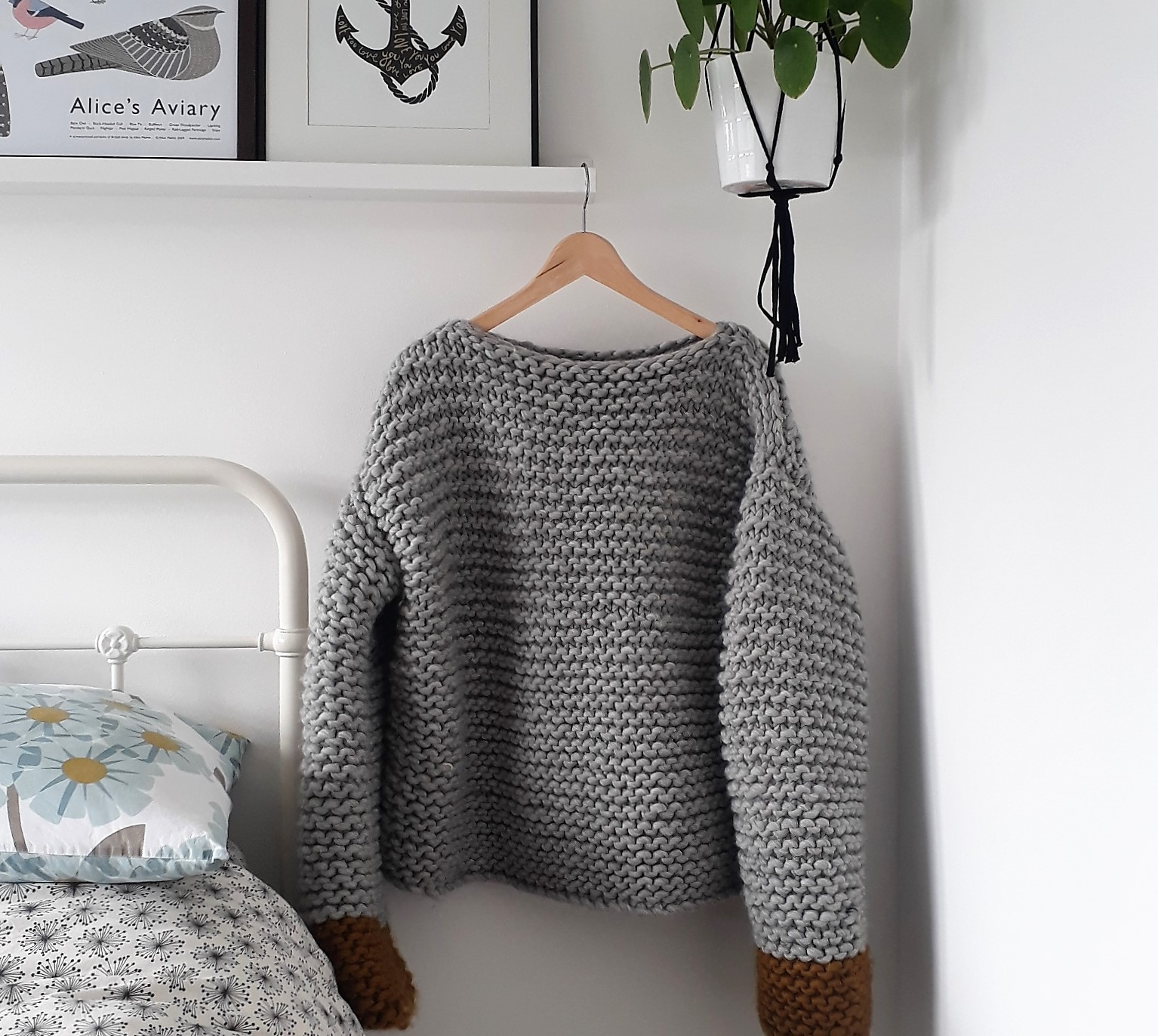 9a84fbe8e5ba Tales from a happy house.  I Knitted A Jumper