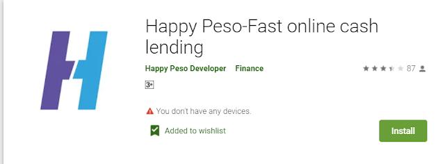Happy Peso - Fast Online Cash Lending (Online Lending App)