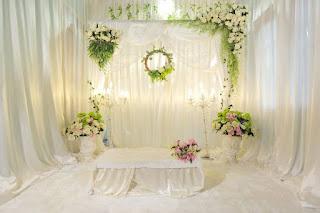 jasa dekorasi backdrop akad area sukabumi - wedding