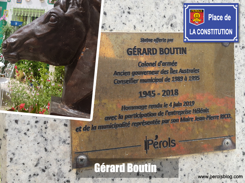 Statue de Gérard Boutin à Pérols