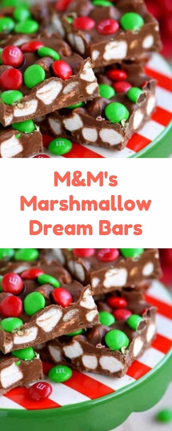 M&M's Marshmallow Dream Bars #christmas #dessert
