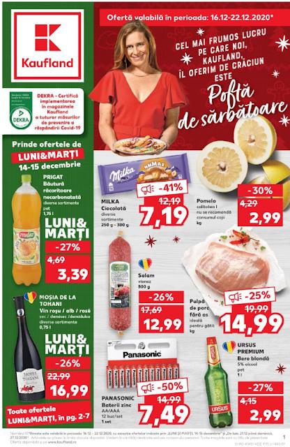 Kaufland Promotii + Catalog-Brosura 16-22.12 2020