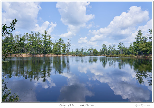 Tully Lake: ... with the lake...