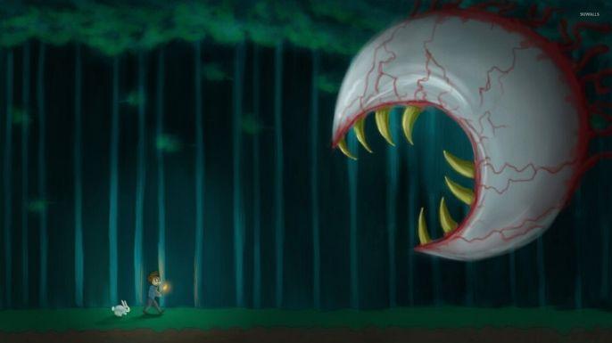 É claro que o clássico Boss Eye of Cthulhu não poderia ficar de fora