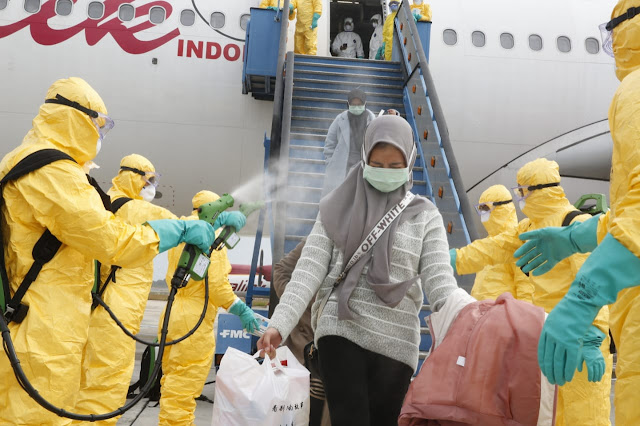 Pemerintah Indonesia Berhasil Pulangkan 243 WNI dari Wuhan