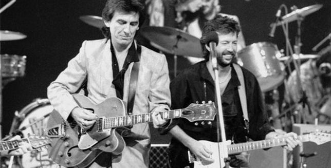George Harrison y Eric Clapton