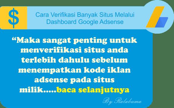Cara Verifikasi Banyak Situs Melalui Dashboard Google Adsense