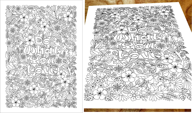do what you love coloring