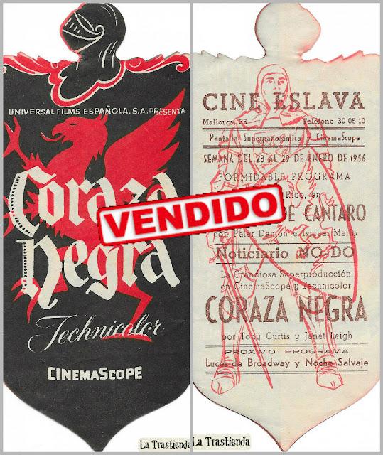 Coraza Negra - Programa de cine - Tony Curtis - Janet Leigh