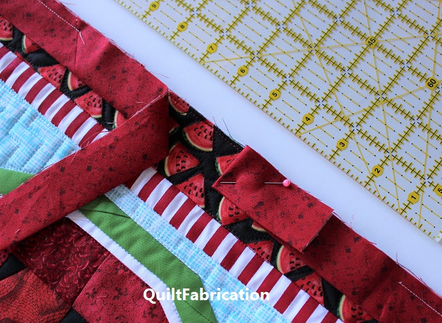 "stop the stitching within 6"" of the folded binding"