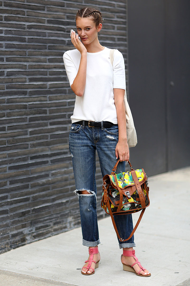 Summer Fashion. 5 Ways to Update Classic White Jeans During the Summer of Metallic Bike Shorts. Goodbye, Mom Jeans! This Is the New Denim Trend of by Emily Farra edited by Anny Choi. Jun.