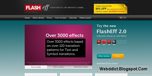 FlashEff2 - Flash effects, Flash animation and Text effects