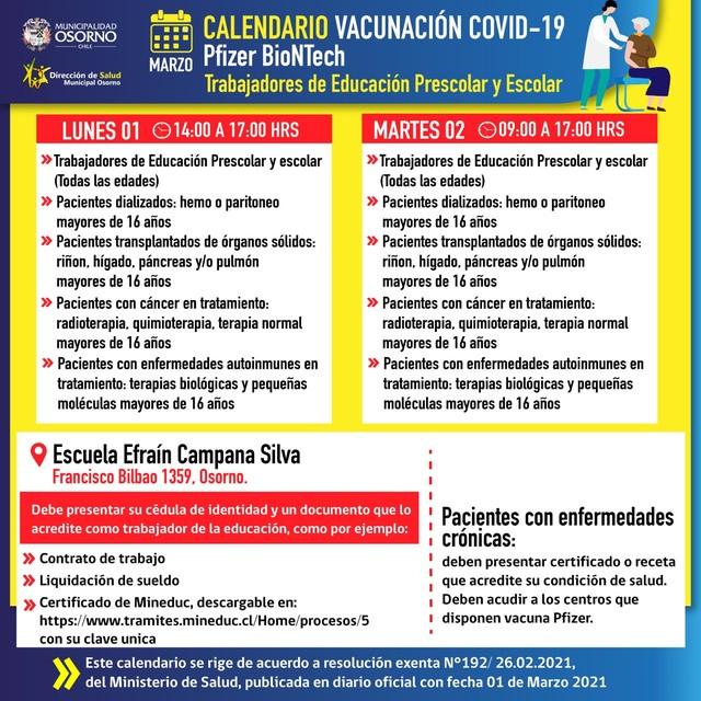 Osorno - vacunación