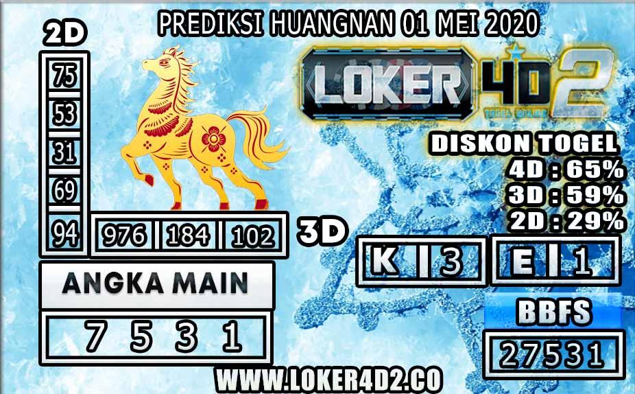 PREDIKSI TOGEL HUANGNAN LOKER4D2 01 MEI 2020