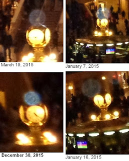 orbs on Grand Central clock