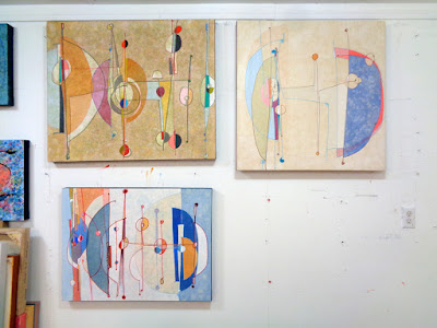 verna vogel studio new work paintings mid-century aesthetic