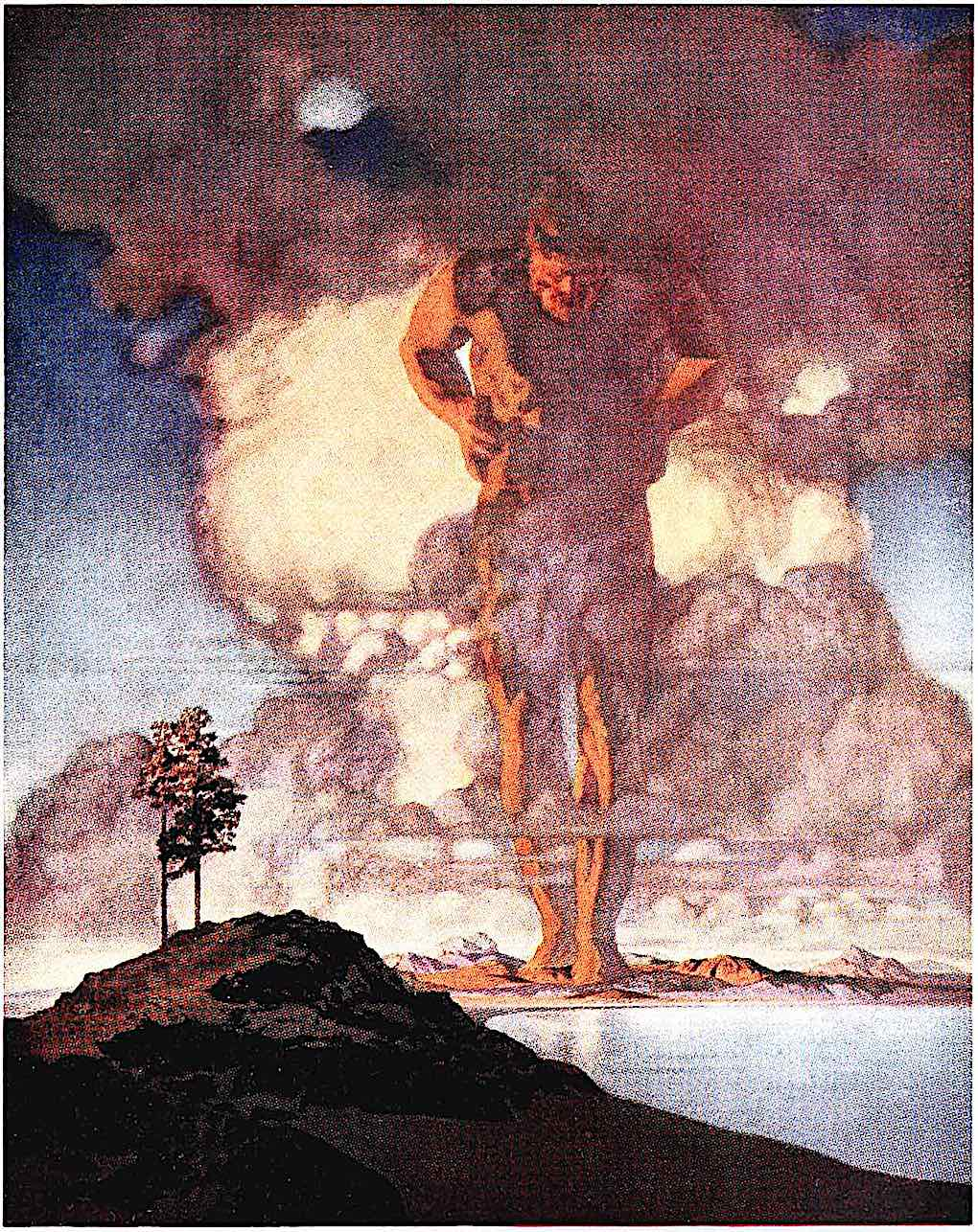 a 1910 Maxfield Parrish giant in color