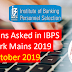 Questions Asked in IBPS RRB Clerk Mains 2019: 20th October 2019