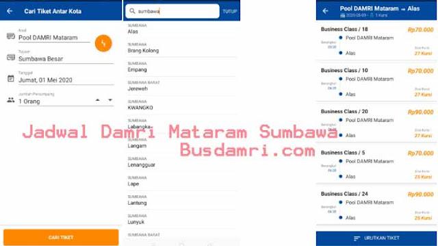 Jadwal Damri Mataram Sumbawa
