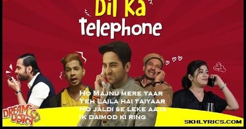 Dil Ka Telephone Lyrics in English - Dream Girl