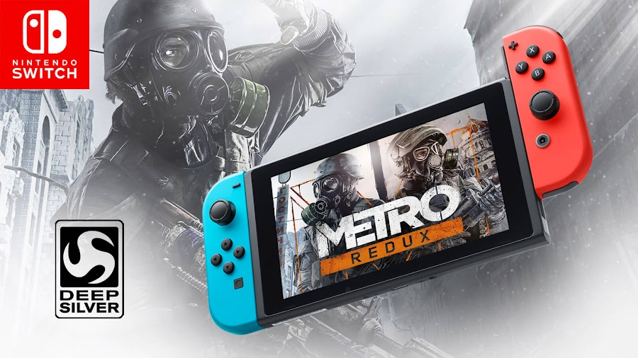 metro redux nintendo switch 2033 last light first-person shooter survival horror game 4a games deep silver