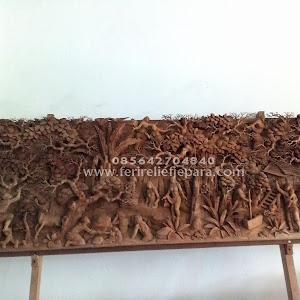 Ukiran Relief Jaka Tarub 3 Dimensi