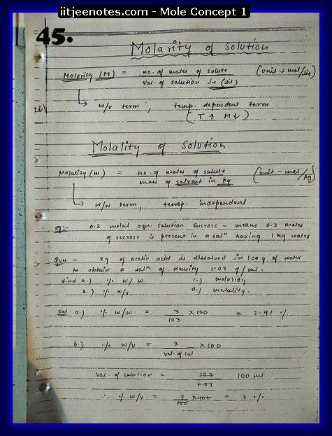 Mole Concept Notes IITJEE13