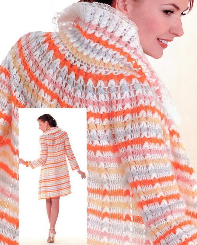 Crochet Coat / Cardigan Pattern for Women - Chic
