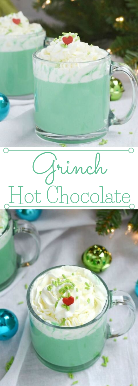GRINCH HOT CHOCOLATE #drink #chocolate #hot #party #smoothie