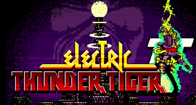 Electric Thunder Tiger Travis Strikes Again No More Heroes title screen logo