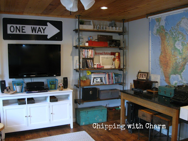 Chipping with Charm: Family Room Redo, Lab Table...www.chippingwithcharm.blogspot.com