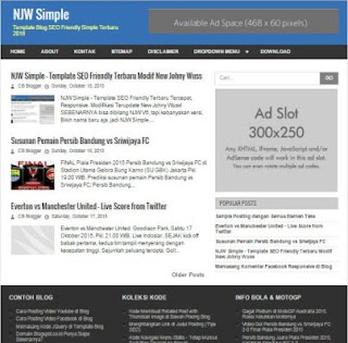 NJW Simple - Fastest Blogger Theme