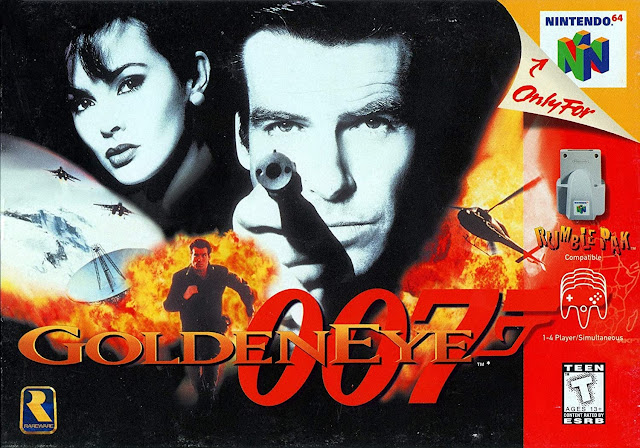James Bond 007 GoldenEye N64 box art