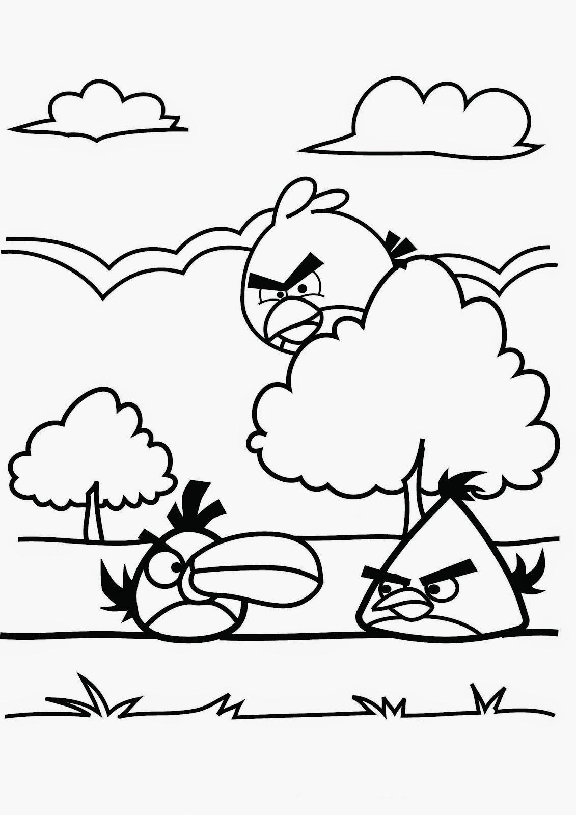 Desenhos dos Angry Birds para colorir, pintar, imprimir e