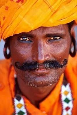man with orange turban