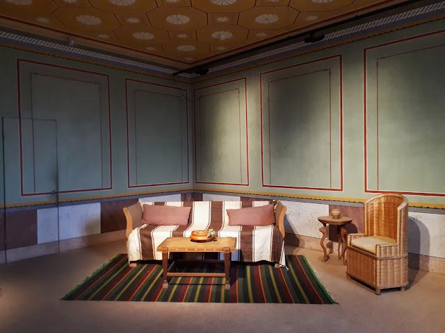 living room in Roman villa in Xanten