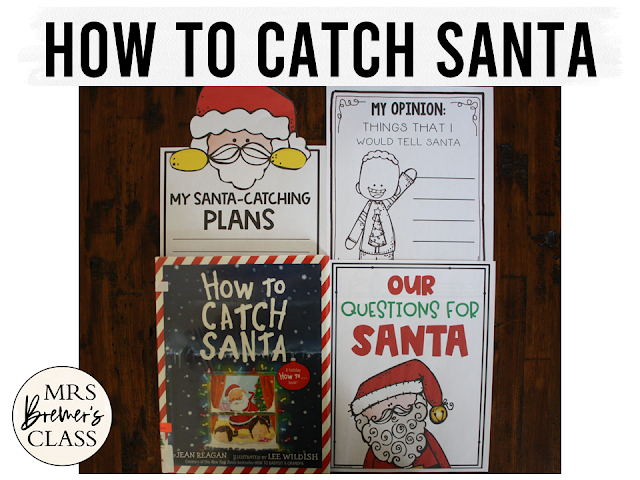 How to Catch Santa book study Christmas literacy unit with Common Core aligned companion activities and a craftivity for K-1