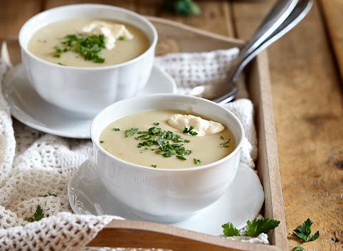 Zupa-krem ziemniaczana z pieczonym czosnkiem