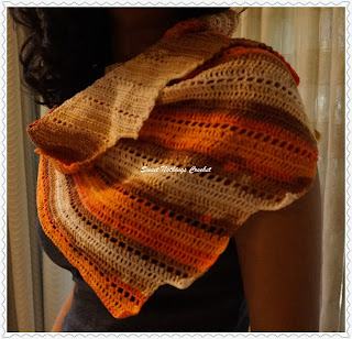 free crochet irregular scarf pattern