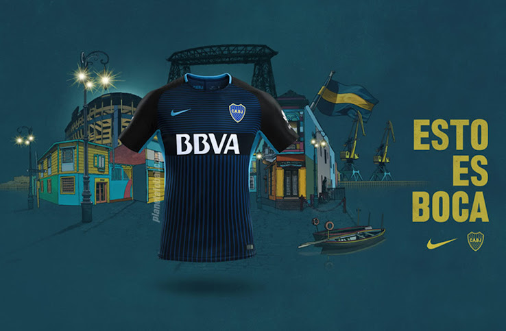 best service fd772 31ece Stunning Nike Boca Juniors 2017-18 Third Kit Released ...