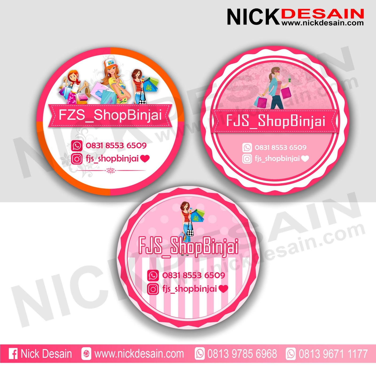 Contoh Desain Logo Olshop Pink Bulat