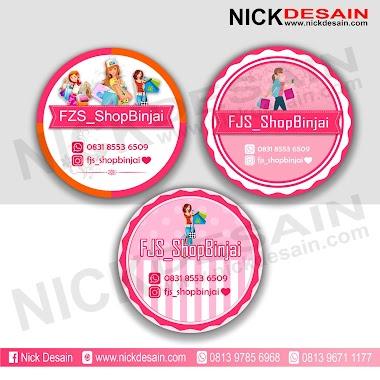Contoh Desain Logo Olshop Pink dan Cetak Stiker Label - Percetakan Tanjungbalai