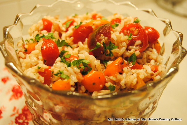 Mini Heirloom Tomato & Rice Salad at Miz Helen's Country Cottage