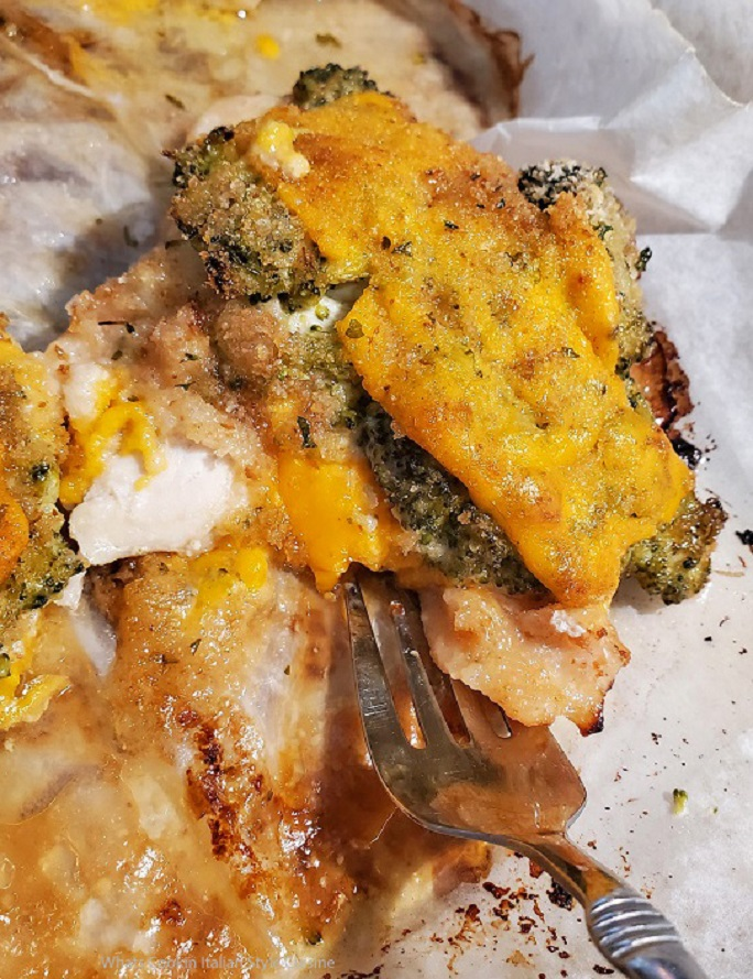this is cheddar and broccoli topped chicken breast baked casserole