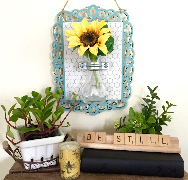 DIY hanging flower vase sconce
