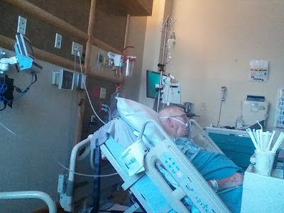 Dad in hospital