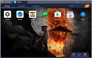 Emulator android yaitu sebuah software Bluestacks 3, Emulator Android untuk Para Gamers