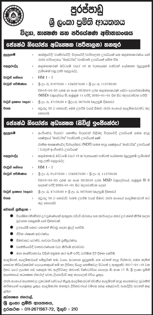 Vacancies at Ministry of Science, Technology and Research