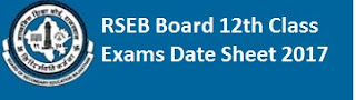 RBSE 12th Exams Tie Table 2017